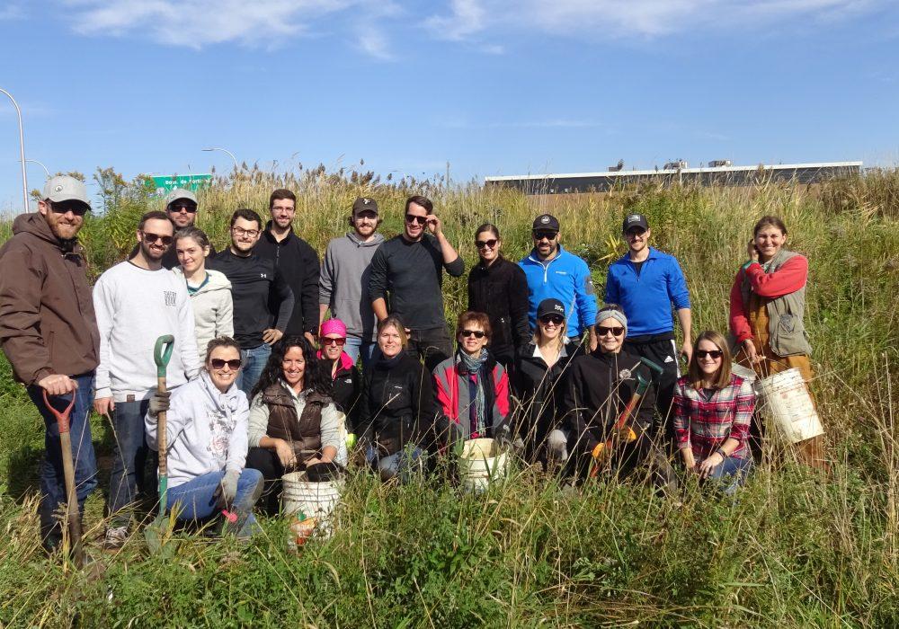 Groupe de bénévoles de l'entreprise BRP à Sherbrooke