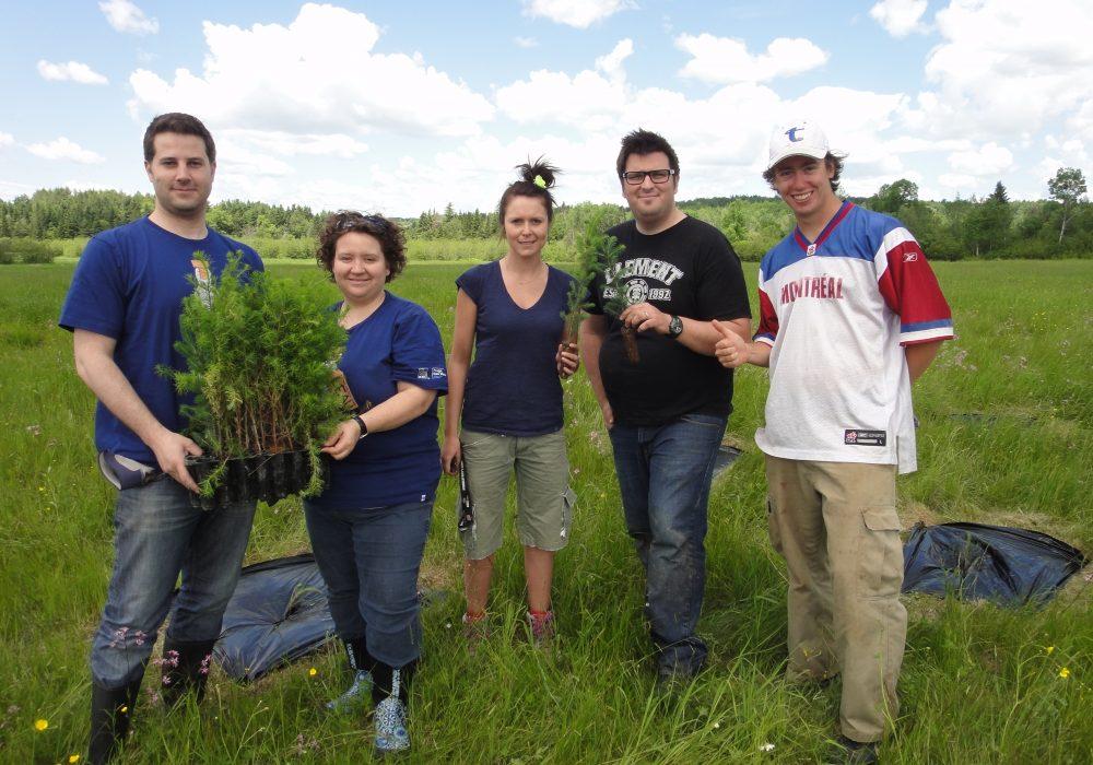 Plantation avec des employés de RBC